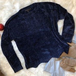 New Navy Chenille Sweater!